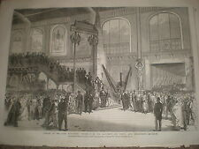 Opening Paris Exhibition procession machinery department 1867 old print ref Y4