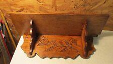 """Antique Oak Clock Shelf- 18"""""""