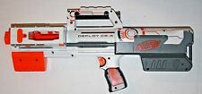 HTF WHITE NERF N-Strike Deploy CS-6 Dart Rifle Blaster Red Tactical Light Works