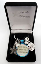 Seashell Charms Necklace Seaside Memories 20 inch Chain In Gift Box