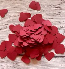600 Red Paper heart Confetti Craft Wedding Heart Table Decoration. Card Confetti