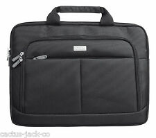 "NEW SYDNEY 14"" LUXURY PADDED NOTEBOOK LAPTOP SLIM DESIGN CARRY BAG CASE BLACK"