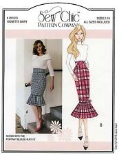 High Waist Pencil Skirt Vignette Skirt sizes 2-18 Sew Chic Sewing Pattern 1618