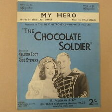 "song sheet MY HERO ""the chocolate soldier"" in C Nelson Eddy Rise Stevens"