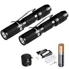 LUMINTOP 2x Tool AAA 110 Lumen Keychain EDC LED Mini Flashlight With Cree Clip