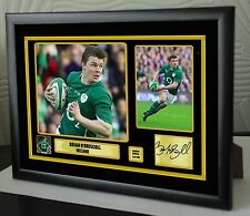"Brian O'Driscoll Rugby Union Framed Canvas Tribute Print Signed ""Great Gift"""