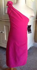 NWT Boutique UN DEUX TROIS Pink One Shoulder Dress Party Size 12 NEW Flower kp1