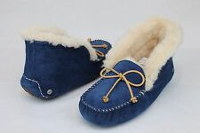 UGG Australia Alena Moccasin Fully Lined Slippers Midnight Size 8 US