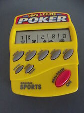 RADICA DRAW & DEUCES POKER HANDHELD ELECTRONIC SPORTS GAME