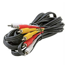 Eagle 8ft Triple RCA Cable Dubbing Video Audio Stereo Red White Yellow Male Plug