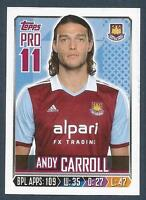 TOPPS 2013/14 PREMIER LEAGUE #352-WEST HAM-LIVERPOOL-NEWCASTLE-ANDY CARROLL