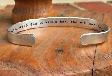 Psalm 46:5 God is within her she will not fail - Inside Secret Message Hand Cuff
