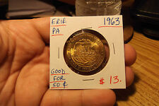 1963 ERIE, PA GOOD FOR .50 CENTS IN TRADE, 150th ANNIVERSARY TOKEN
