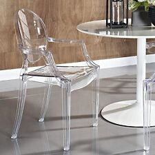 Ghost Armchair Lucite Clear Starck Modern Acrylic Chair Stacking Indoor Outdoor