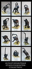 LE CHAT DOMESTIQUE 12-teiliges KATZEN - SKULPTUREN - SET