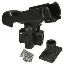 Black Adjustable Side Rail Mount Kayak Boat Fishing Pole Rod Holder Tackle Kit