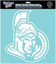 """Ottawa Senators 8""""x8"""" White Auto Decal [NEW] NHL Car Emblem Sticker CDG"""