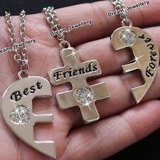 Split 3 Best Friends Heart Bracelet Birthday Gift for Daughter Sister Girl Lady