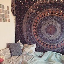 Indian Mandala Tapestry Hippie Wall Hanging Bohemian Bedspread Throw Decor Art