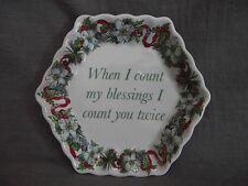 Spode Holidays Blessings Small Tray/Candy/Nut Dish