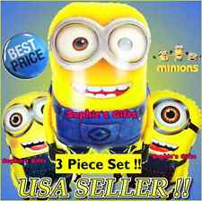 3 Pcs. Despicable ME Minion Balloons! David & Stuart Birthday Party Supply!