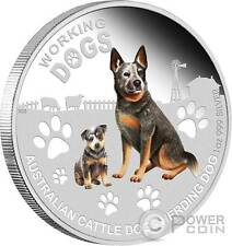 CATTLE DOG Herding Working Dogs Silver Coin Tuvalu 2011
