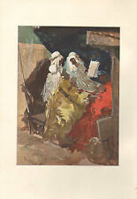 1899 VICTORIAN STUDIO PRINT ~ SKETCH IN WATER-COLOURS by VIERGE