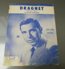 1958 Vintage Sheet Music DRAGNET THEME Jack Webb Joe Friday GD+ 4 pgs