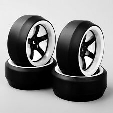 4PCS 1/10 RC Car Speed Drift 0 Degree Tires Tyre & Wheel D5NWK For HPI HSP