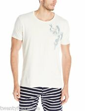 NWT Mens Nudie Jeans Organic Cotton White Mermaid Short Sleeve T Shirt sz L