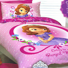 Disney Princess Sofia Sophia -Royal World - Single/US Twin Bed Quilt Doona Cover