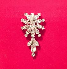Christian Dior Rhinestone Pendant Signed CHR.DIOR Germany 1960's