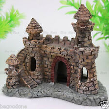 Mini Classical Castle Aquarium Ornament Fish Tank Hiding Cave Decorations Kit