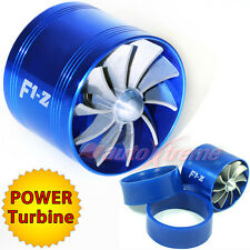 "64-74mm 2.5""-2.9"" TURBO CHARGER AIR INTAKE TURBONATOR Gas Fuel Saver Fan BLUE"