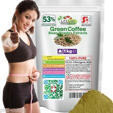 1kg PURE GREEN COFFEE BEAN EXTRACT POWDER - 50% CHLOROGENIC ACID - FREE SHIPPING
