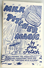 MILK PITCHER MAGIC BOOK Vanishing Stage 100 Tricks Tips Gags Magician Fetsch NEW