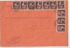 ITALIA 1949 LETTERA MULTIAFFRANCATA CON DEMOCRATICA DA SAMUGHEO PER CAGLIARI