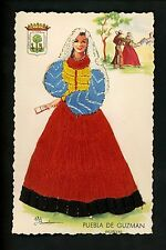 Embroidered clothing postcard Artist Elsi Gumier, Spain, Huelva woman dance