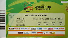 TICKET AFC Asian Cup Qatar 2011 Australia - Bahrain Match 22