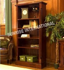 Wood Wooden bookcase book shelves  / Display rack with carving !!