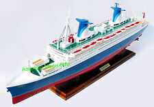"SS Norway Cruise Ship 40"" - Handcrafted Wooden Ocean Liner Model NEW"