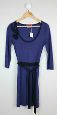 Womens ESPRIT Purple & Black Spotted Dress size M (size 10)
