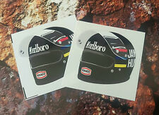 James hunt casque F1 autocollant formule 1 hesketh 50mm x 50mm