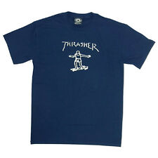 """New THRASHER SKATEBOARD MAG """"Gonz"""" T-Shirt by Mark Gonzales (Navy) Size SMALL"""