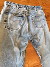 VIntage USA Made Levi's 501 Button Fly Faded Denim Jeans 40x36 Measures 37x32