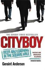 "Geraint Anderson ""Cityboy"": Beer and Loathing in the Square Mile Very Good Book"