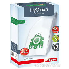 4 x Genuine Miele S7 U1 Type U 3D HyClean Vacuum Hoover Bags & Filter Kit