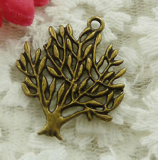 free ship 30 pieces bronze plated tree pendant 31x24mm #2022