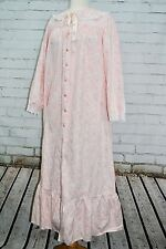 LANZ OF SALZBURG Long Flannel Nightgown - Women's Size S Small - Pink Floral
