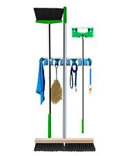 Wall Mounted Broom And Mop Organiser Thick or Thin Handles Push In Neat Tidy